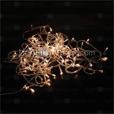 10M 100-LED Warm White 8 Sparking Modes Christmas Fairy String Light (220V)