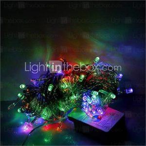 10M 100 LEDs Christmas Halloween decorative lights festive strip lights-Ordinary string lights RGB (220V)