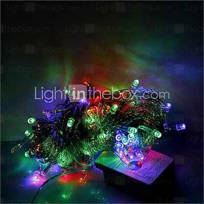 10M 100 LEDs Christmas Halloween decorative lights festive strip lights-Ordinary string lights RGB (220V)