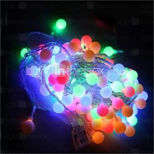 10M Led String Lights With 100Led Ball Ac220V Holiday Decoration Lamp Festival Christmas Lights Outdoor Lighting