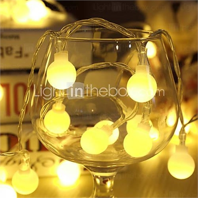 10M Led String Lights With 80Led Ball Ac220V Holiday Decoration Lamp Festival Christmas Lights Outdoor Lighting