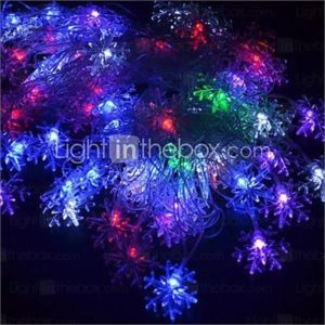 20-LED 4M Waterproof EU Plug Outdoor Christmas Holiday Decoration Flower RGB Light LED String Light (220V)