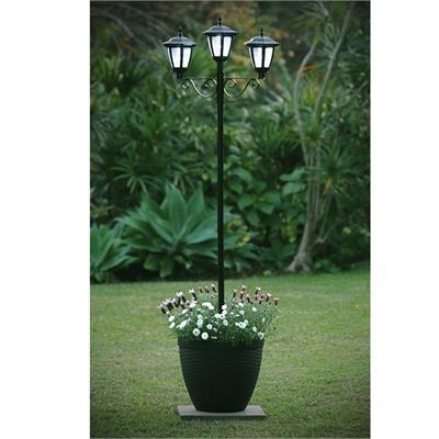 3 Solar Light Planter