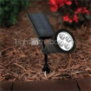4-LED Outdoor Solar Power Spotlight Landscape Spot Light Garden Lawn Flood Lamp