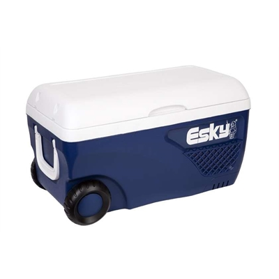 Coleman Esky 65L Blue And White Hard Ice King Cooler With Wheels