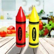 Condiment Crayons Sauce Dispensers | Mustard Ketchup