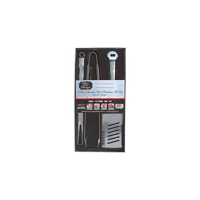 Dinky-Di 3 Piece Stainless Steel Tool Set - Spatula, Fork, Tong