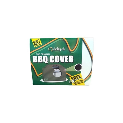 Dinky-Di Hooded BBQ Cover, Black, Extra Large