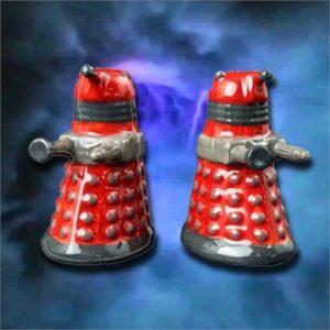 Doctor Who Dalek Ceramic Salt & Pepper Shakers