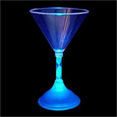 Flashing Martini Cocktail Glass