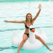Giant Inflatable Swan Pool Toy | SunnyLife
