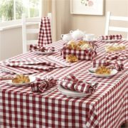 Gingham Check Kitchen Apron & Gloves Set