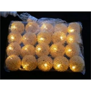 Gold NIkel Ball String Lights