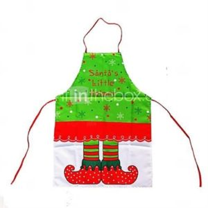 Happy Christmas Aprons Xmas Cooking Dress Santa Claus Clothing Dining Aprons Dinner Christmas Decoration
