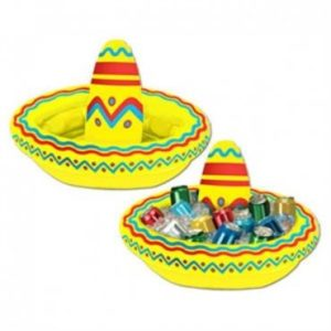 Inflatable Fiesta Sombrero Drink Cooler