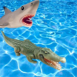 Inflatable Squirting Shark & Croc Pool Toys