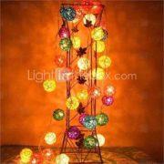 JIAWEN 4M 20LEDs RGB LED Rattan Ball String Light Christmas String Light For Decoration (AC 110-220V)