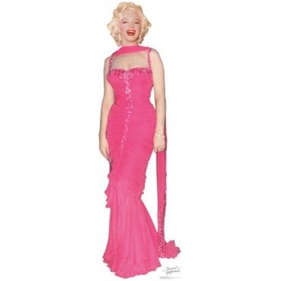 Marilyn Monroe Pink Dress Cutout
