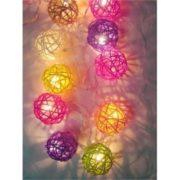 Mixed colour rattan ball