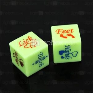 Plastic Spoof Fun Dice - (2 PCS)