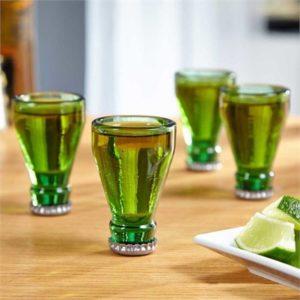 Recycled Beer Bottle Shot Glasses - Set of 4