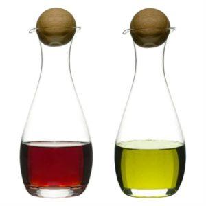 Sagaform Oil & Vinegar Bottles with Oak Cork
