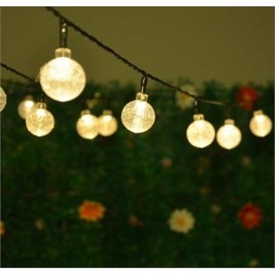 Solar Powered Crystal Ball Fairy String Lights