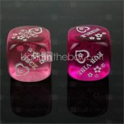 Spoof Fun Dice - Purple Pink (2 PCS)