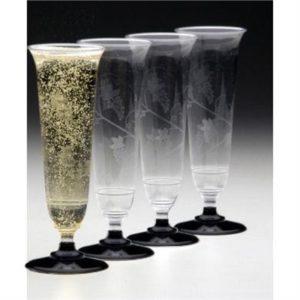 1 Champagne flute premium plastic (125ml)