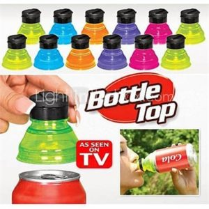 3pcs Turn Convert Cans into Bottles Reusable Snap On Tops Soda Lids Caps Cover