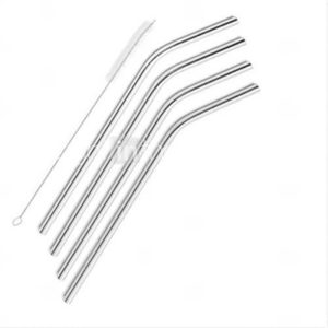 4 Pack ofStraws Stainless Steel Drinking Reusable Brush Set Cleaning for Yeti Tumbler