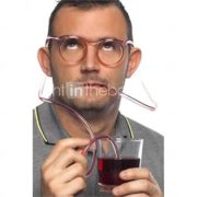 Crazy Fun Glasses Drinking Straw, W18cm x L15cm x H3cm