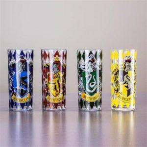 Harry Potter Set Of Four Hogwarts Drinking Glasses