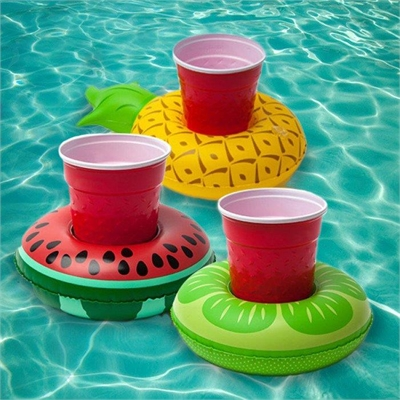 Inflatable Fruits Beverage Pool Floats - Pack of 3
