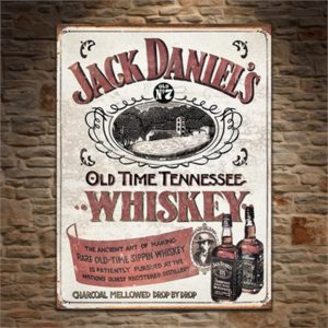 Jack Daniel's Sippin' Whiskey Retro Tin Sign