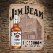 Jim Beam Retro Tin Sign