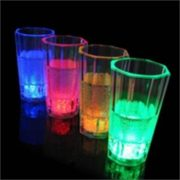 Liquid activated LED shot Glass