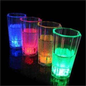 Liquid activated LED shot Glass