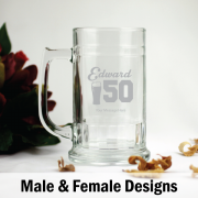 Personalised 50th Birthday Beer Stein