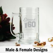 Personalised 60th Birthday Beer Stein