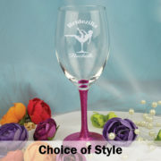 Personalised Bridezilla Hens Night Wine Glass
